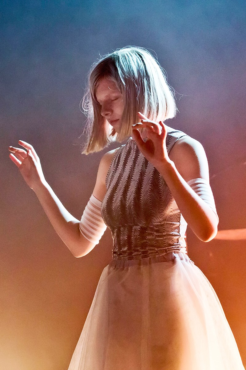 Aurora performs live during a concert at the Heimathafen Neukoelln on March 21, 2016 in Berlin, Germany.