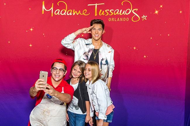 Austin Mahone at Madame Tussauds Orlando