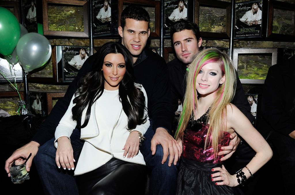 Kim Kardashian, Kris Humphries, Brody Jenner & Avril Lavigne