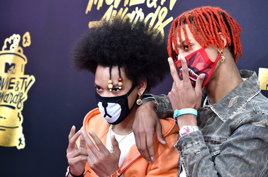 Ayo and Teo attend the 2017 MTV Movie And TV Awards at The Shrine Auditorium on May 7, 2017 in Los Angeles.