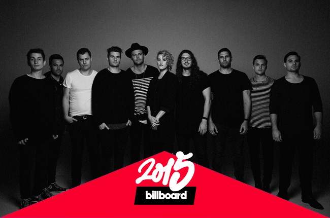 Hillsong United photographed in 2015.