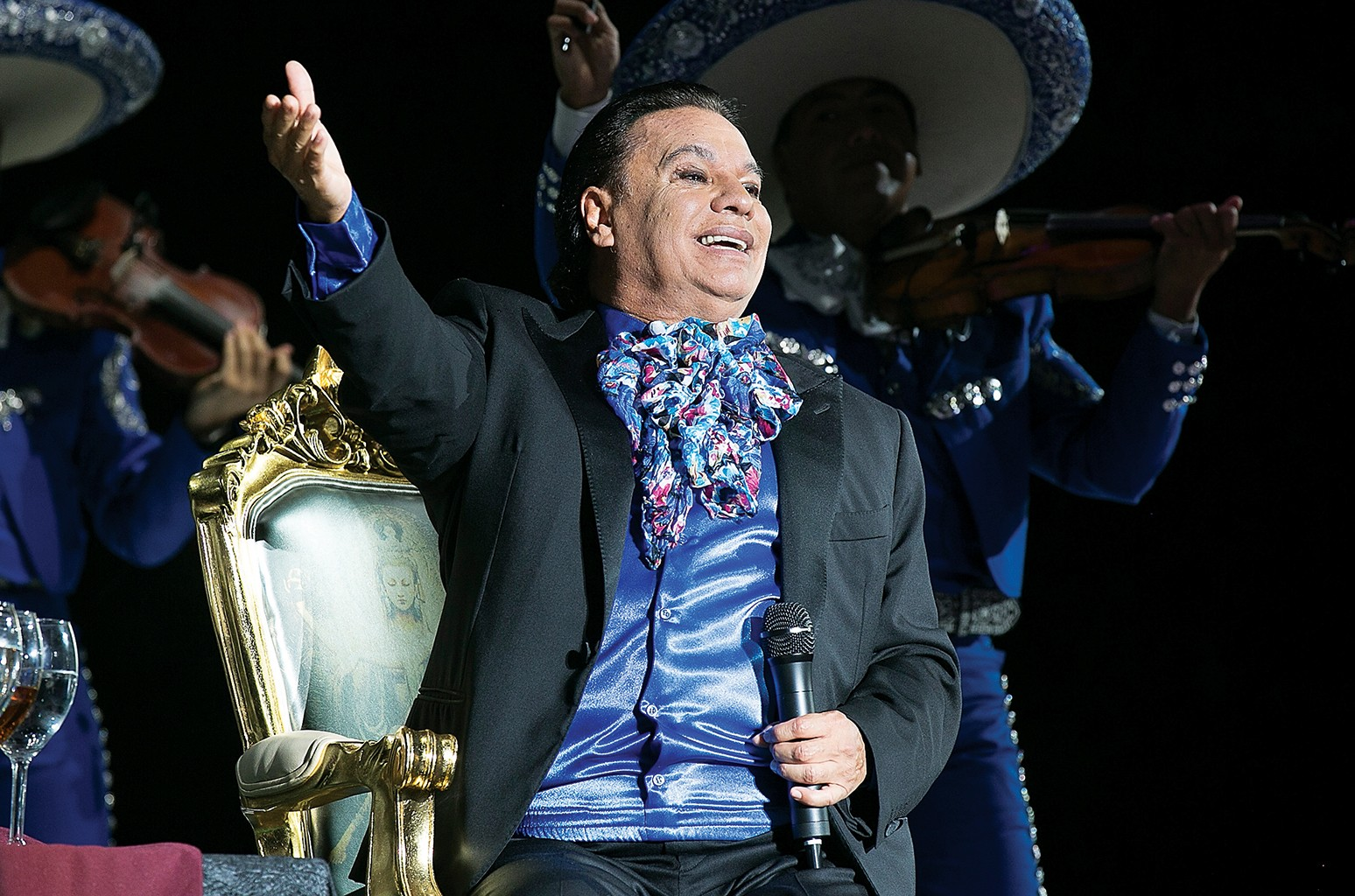 Juan Gabriel performs at The Forum at The Forum on Aug. 26, 2016 in Inglewood, Calif.
