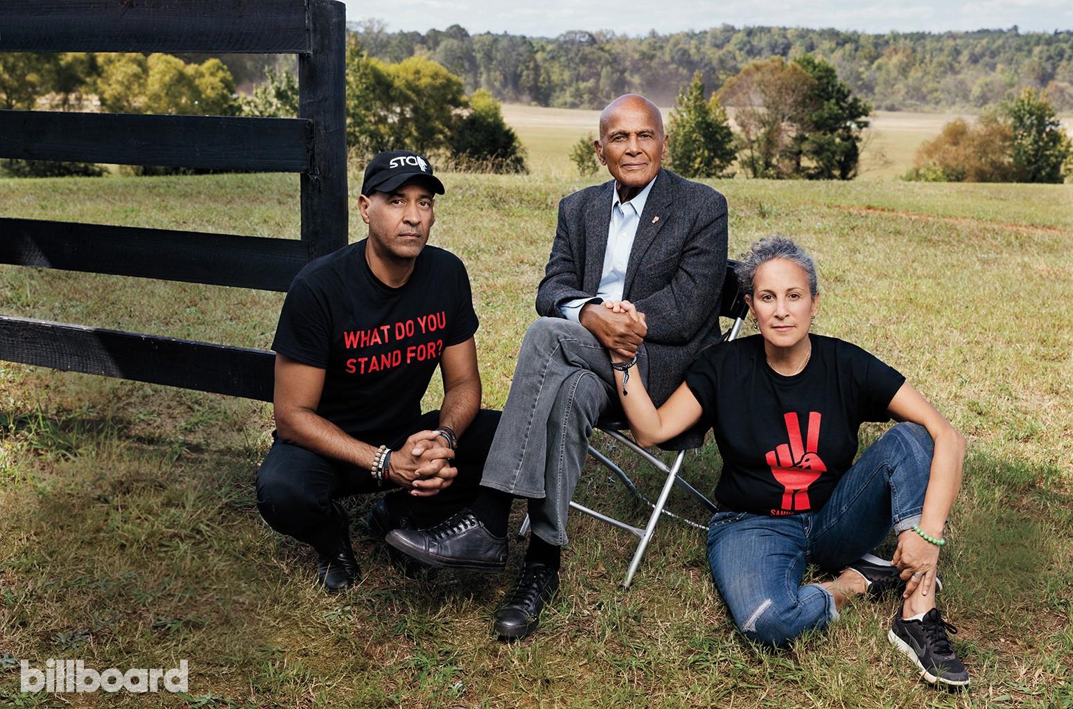 Sankofa co-director Raoul Roach (son of Max Roach), Harry Belafonte & Gina Belafonte