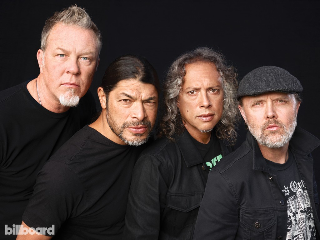 James Hetfield, Robert Trujillo, Kirk Hammett & Lars Ulrich