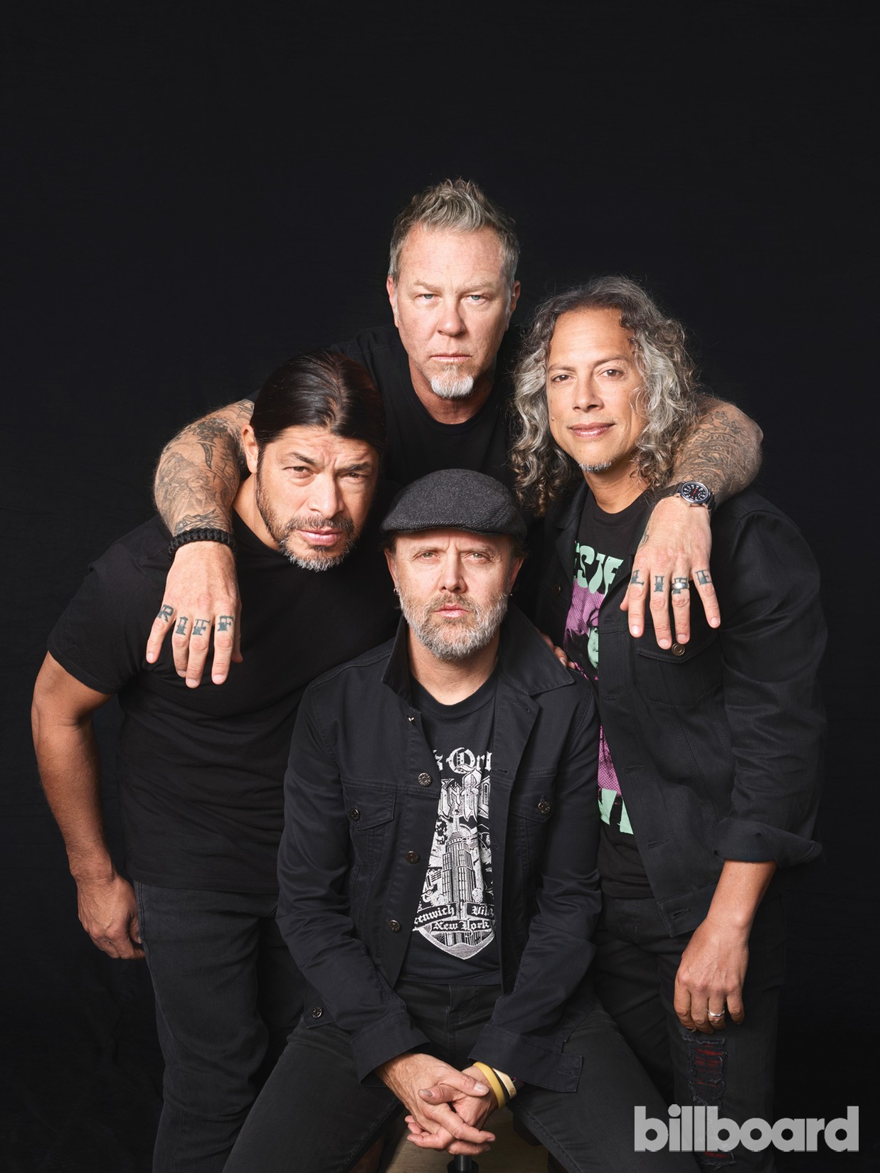 James Hetfield, Kirk Hammett, Lars Ulrich & Robert Trujillo