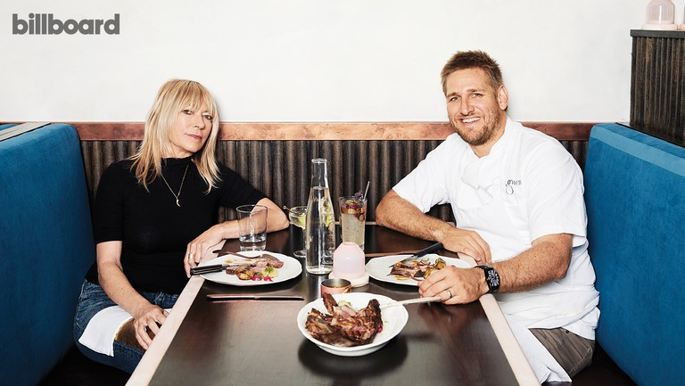 <p>Kim Gordon and chef Curtis Stone photographed Oct. 13 at Gwen in Los Angeles.</p>