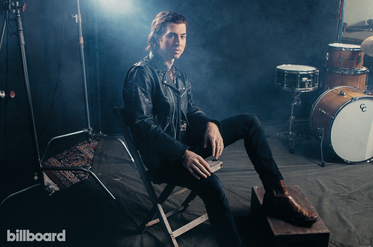 Dorio photographed Nov. 1 at The Boundry in  Nashville with the drum kit he played at The Bataclan.