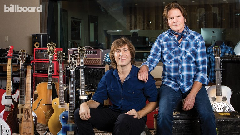 <p>John (right) and Shane&nbsp&#x3B;Fogerty&nbsp&#x3B;photographed Nov. 9 in Thousand Oaks. The photo above&nbsp&#x3B;Fogerty&nbsp&#x3B;on the right was the inspiration his wife used when creating his plaid shirt and guitar.</p>