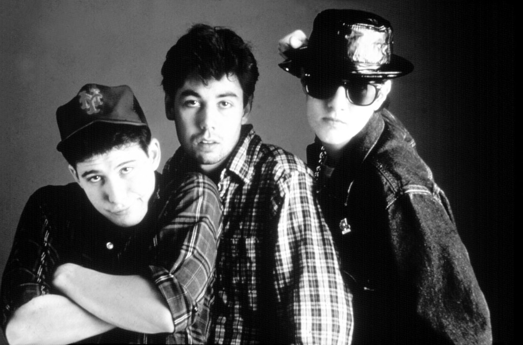 Adam Yauch (MCA), Mike Diamond (Mike D) and Adam Horovitz (Ad-Rock) of the Beastie Boys in the 1980s.
