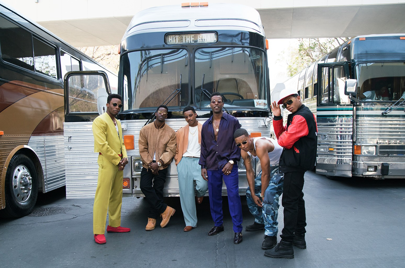 The cast of BET's The New Edition Story