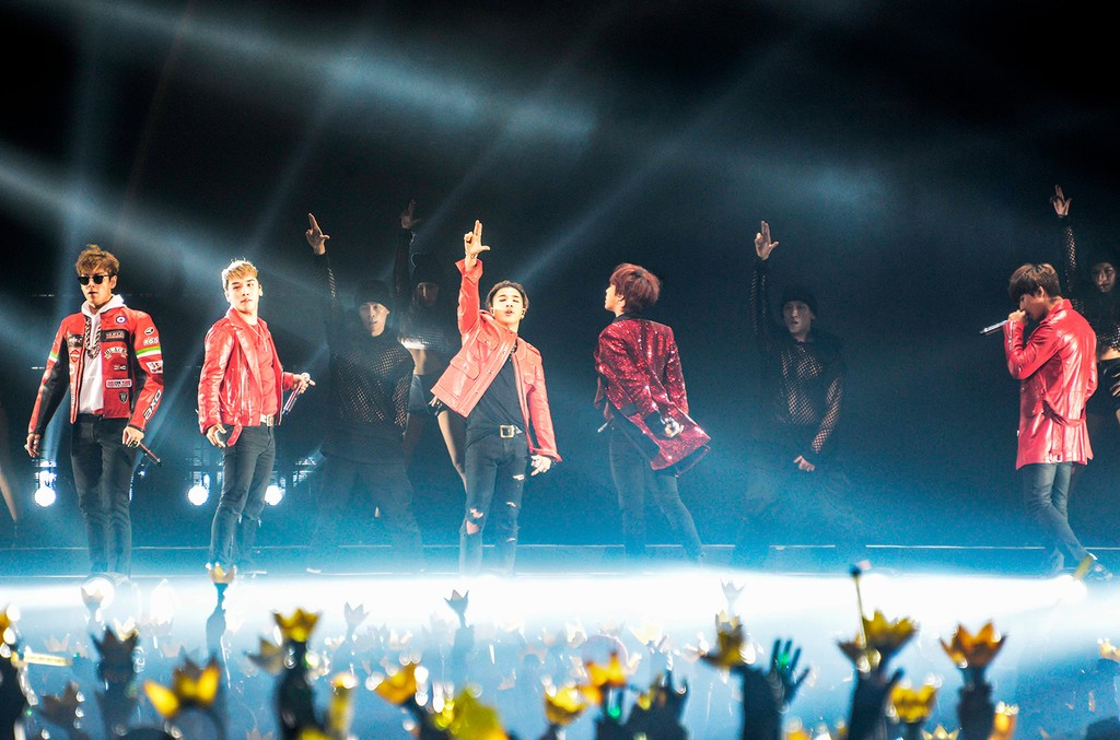 BIGBANG at their concert on Sept. 24, 2015 in Taiwan.