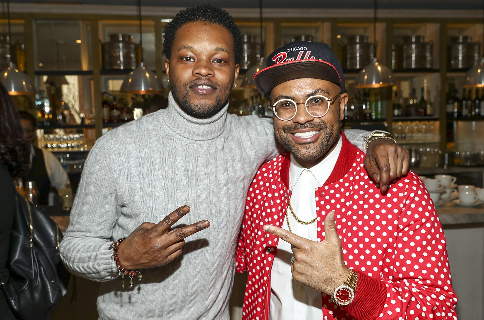 BJ the Chicago Kid and composer Philip Lawrence attend the 3rd Annual Los Angeles Chapter Nominee Brunch Celebration at Fig & Olive on Jan. 28, 2017 in West Hollywood, Calif.