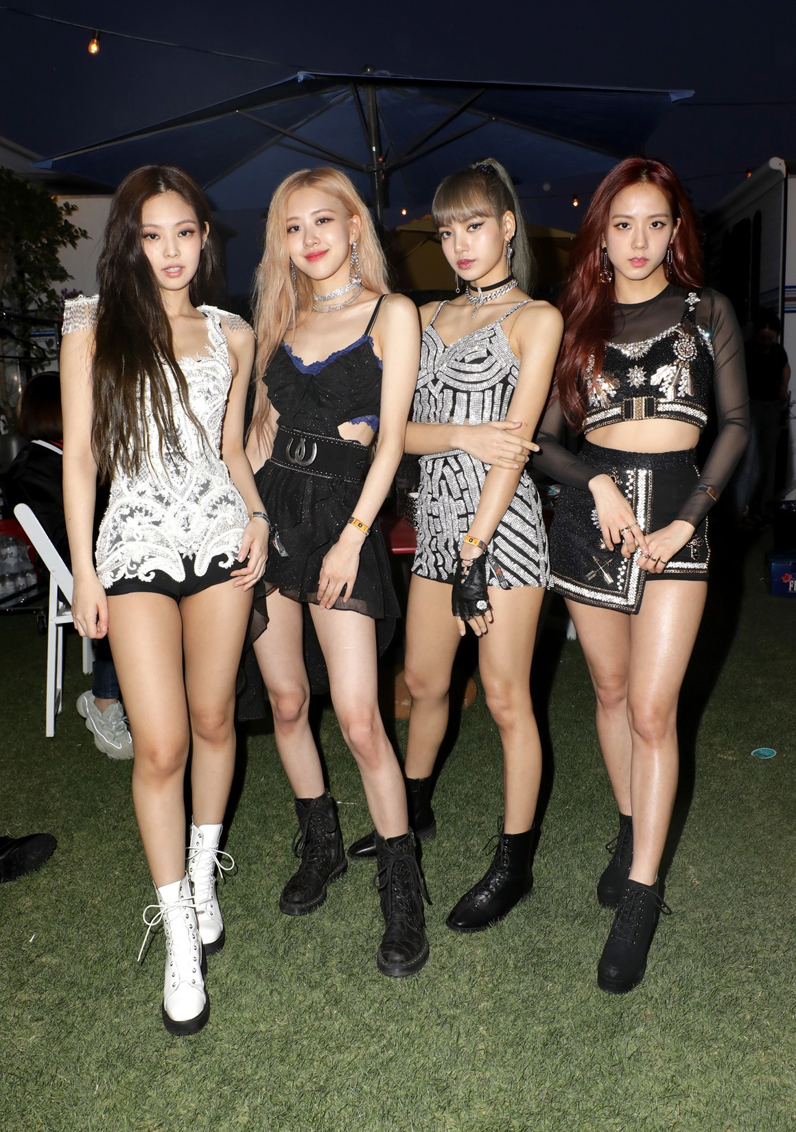 Jennie Kim, Rosé, Lisa and Jisoo of 'BLACKPINK' are seen at the YouTube Music Artist Lounge at Coachella 2019 on April 12, 2019 in Indio, Calif.