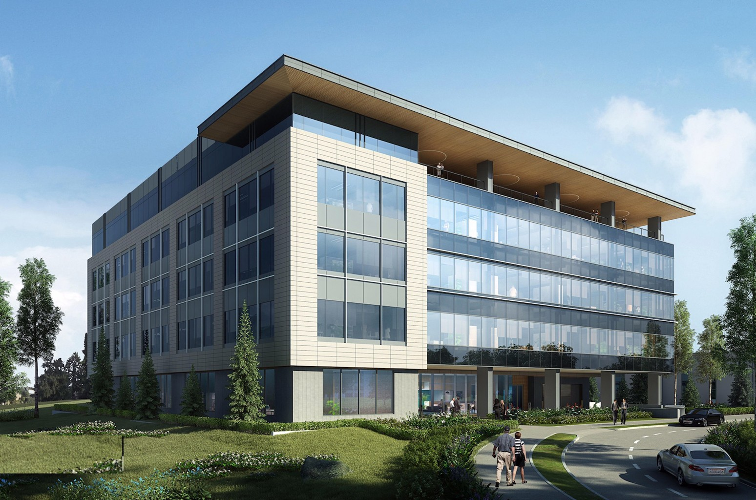 A rendering of BMG's new 120,000-square-foot building located on Nashville's Music Row.