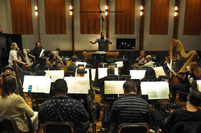 Composer Jermaine Stegall conducts a 32-piece orchestra Aug. 27 at the 19th annual BMI Conducting Workshop