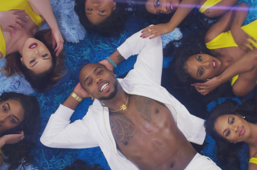 """B.o.B  in the video for """"4 Lit"""" featuring T.I. and Ty Dolla $ign."""