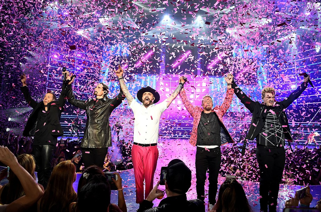 Backstreet Boys perform during their Las Vegas Residency.