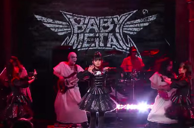 BABYMETAL performs on 'The Late Show with Stephen Colbert.'