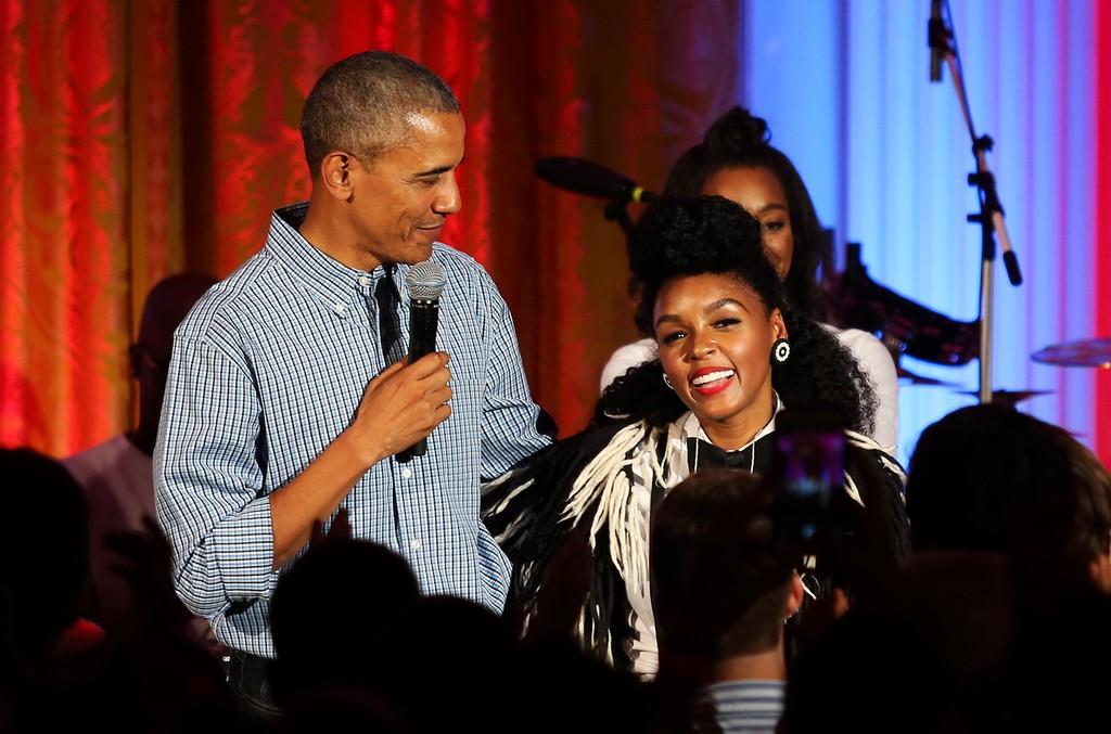 Janelle Monae & Barack Obama