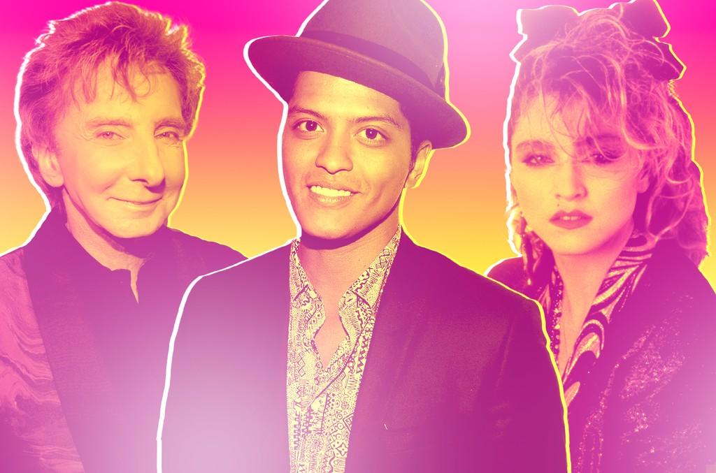 Barry Manilow, Bruno Mars & Madonna