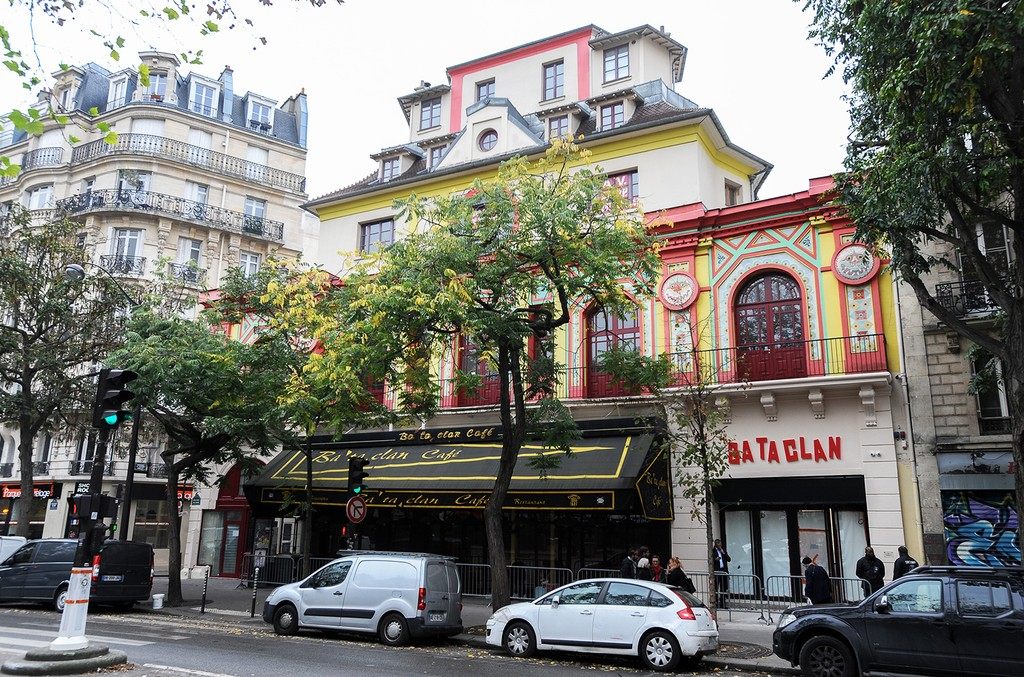 A view around the 'Bataclan' concert hall on Nov. 4, 2016 in Paris, France.