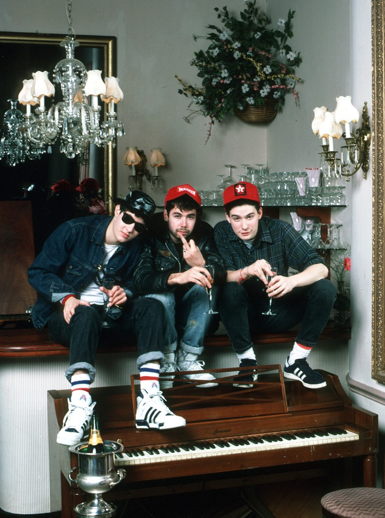 Beastie Boys photographed in 1986.