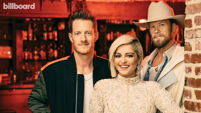 <p>Bebe&nbsp&#x3B;Rexha&nbsp&#x3B;(center) and Tyler Hubbard and Brian Kelley of Florida Georgia Line photographed on Nov. 13, 2018 at Wilburn Street Tavern in Nashville.&nbsp&#x3B;Hubbard wears a Versus Versace jacket, G-Star pants and Nike Air Jordan Retro shoes.&nbsp&#x3B;Rexha&nbsp&#x3B;wears a dress and boots by&nbsp&#x3B;Elie&nbsp&#x3B;Madi, Michael NGO coat and&nbsp&#x3B;Ben-Amun&nbsp&#x3B;earrings. Kelley wears a Tribe Kelley X Krista&nbsp&#x3B;Roser&nbsp&#x3B;custom trench,&nbsp&#x3B;Amiri&nbsp&#x3B;pants, Christian&nbsp&#x3B;Louboutin&nbsp&#x3B;boots and Stetson hat.&nbsp&#x3B;</p>