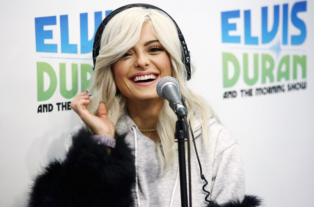 "Bebe Rexha visits ""The Elvis Duran Z100 Morning Show"" at Z100 Studio on Jan. 17, 2017 in New York City."