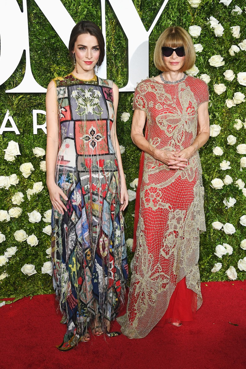 Bee Shaffer (L) and Anna Wintour attend the 2017 Tony Awards at Radio City Music Hall on June 11, 2017 in New York City.