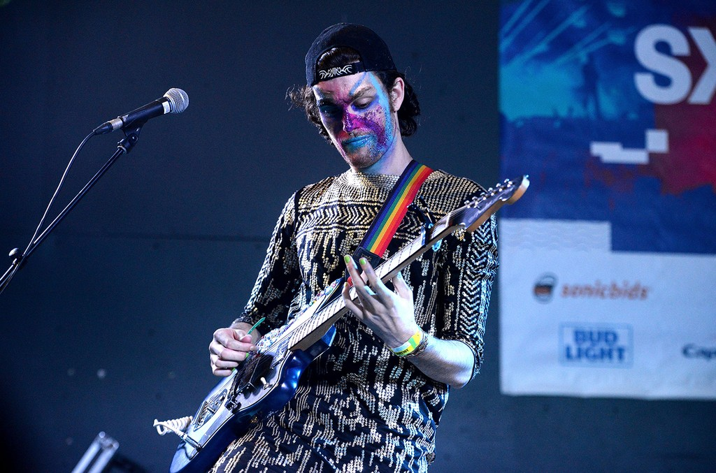 Ben Hopkins of the band PWR BTTM performs onstage during the NPR SXSW Showcase at Stubbs BBQ on March 15, 2017 in Austin, Texas.