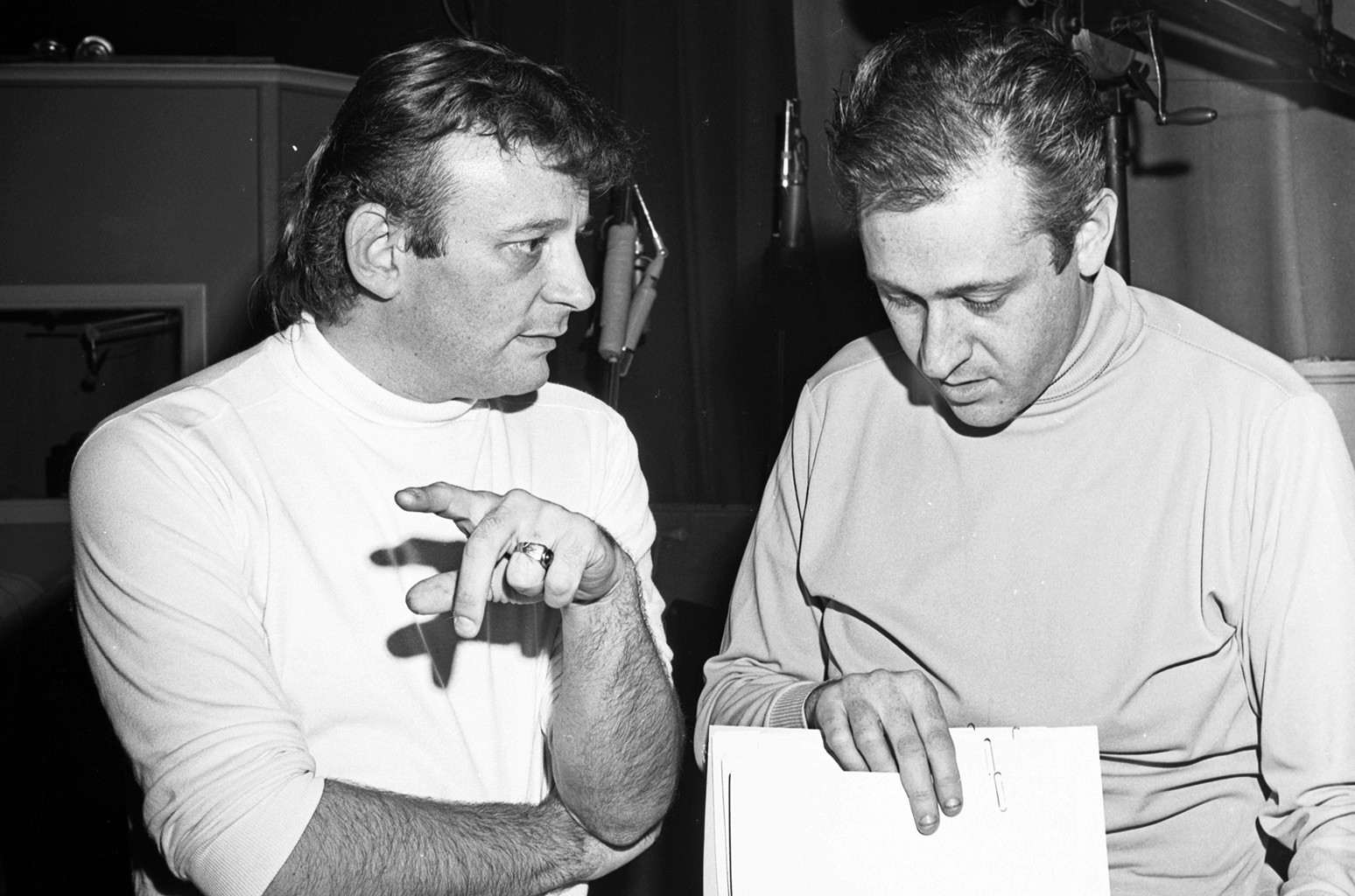 Bert Berns at a Bang Records recording session in the studio on March 28, 1967 in New York.