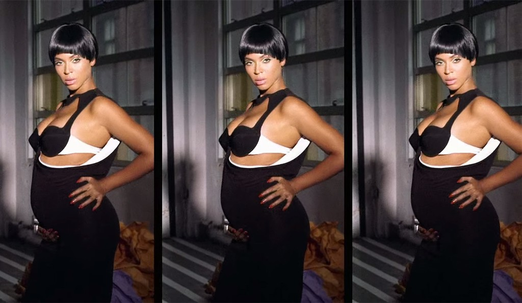 """Video still of Beyoncé in her music video for """"Countdown"""""""