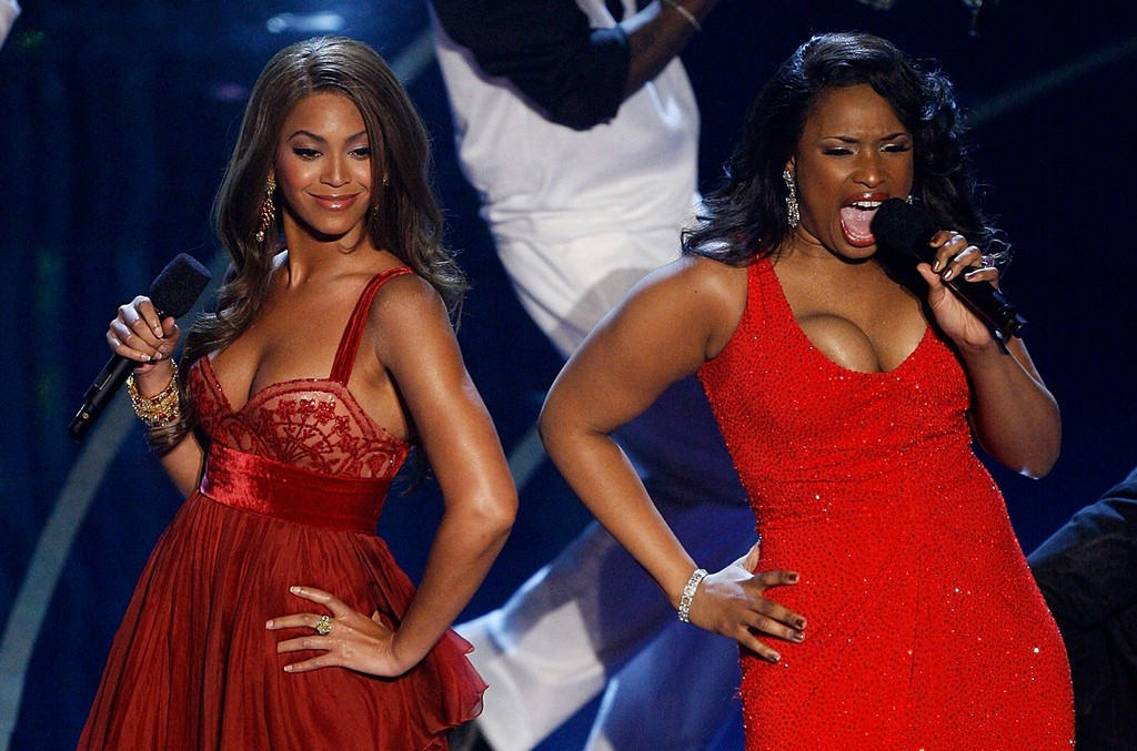 Beyonce and Jennifer Hudson perform during the 79th Annual Academy Awards in 2007.