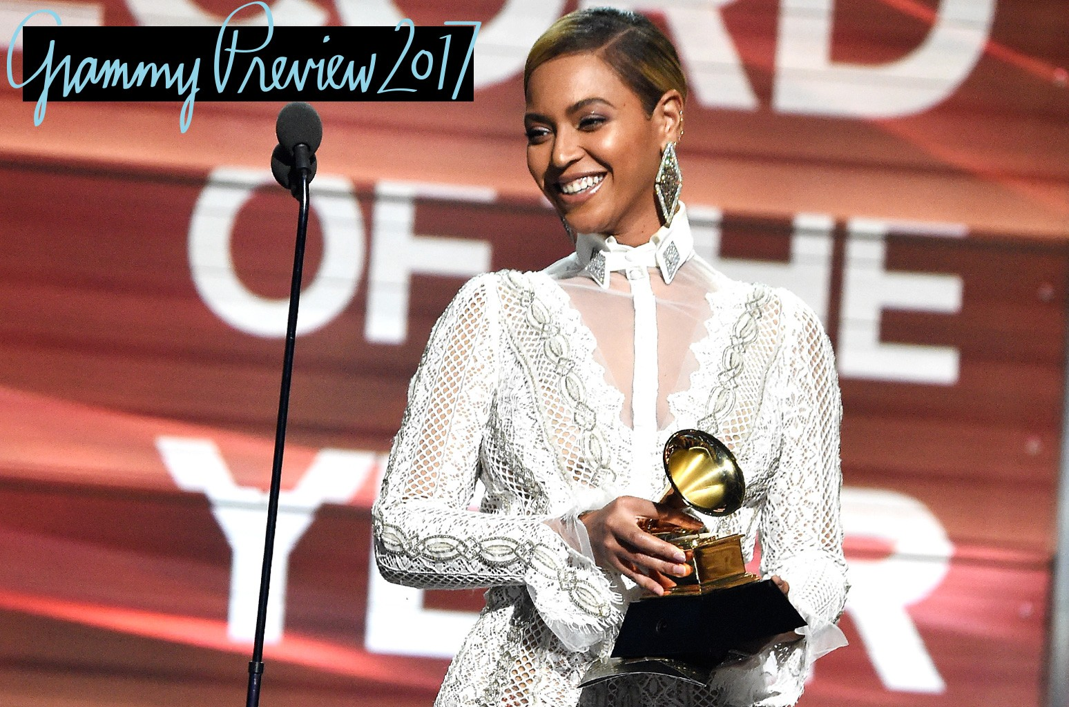 Beyonce presents the award for Record of the Year onstage during The 58th GRAMMY Awards at Staples Center on Feb. 15, 2016 in Los Angeles.