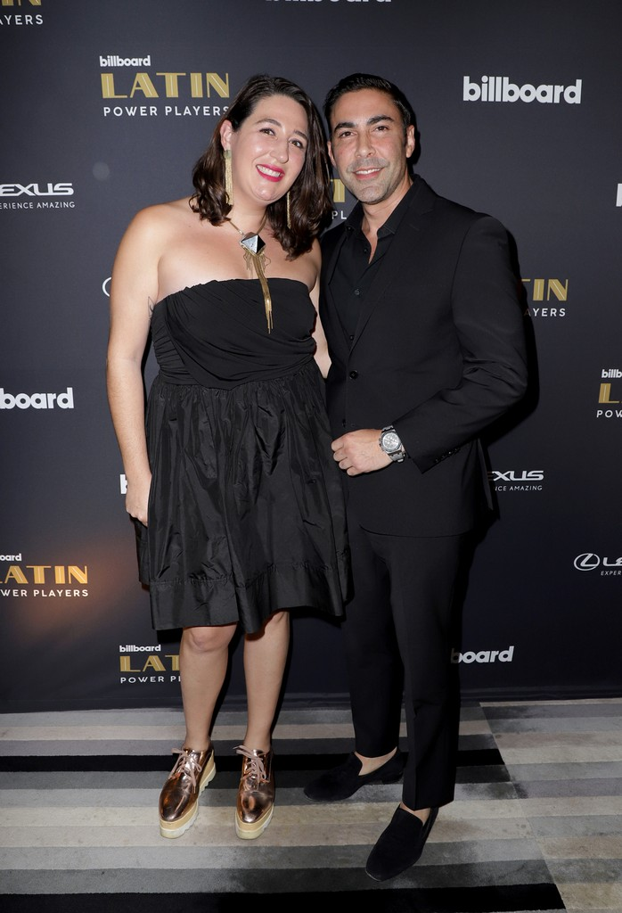 SBS, Head of Content Development Bianca Alarcon and SBS Executive Jesus Salas attend Billboard 2018 Latin Power Players at W South Beach on Nov. 1, 2018 in Miami Beach.