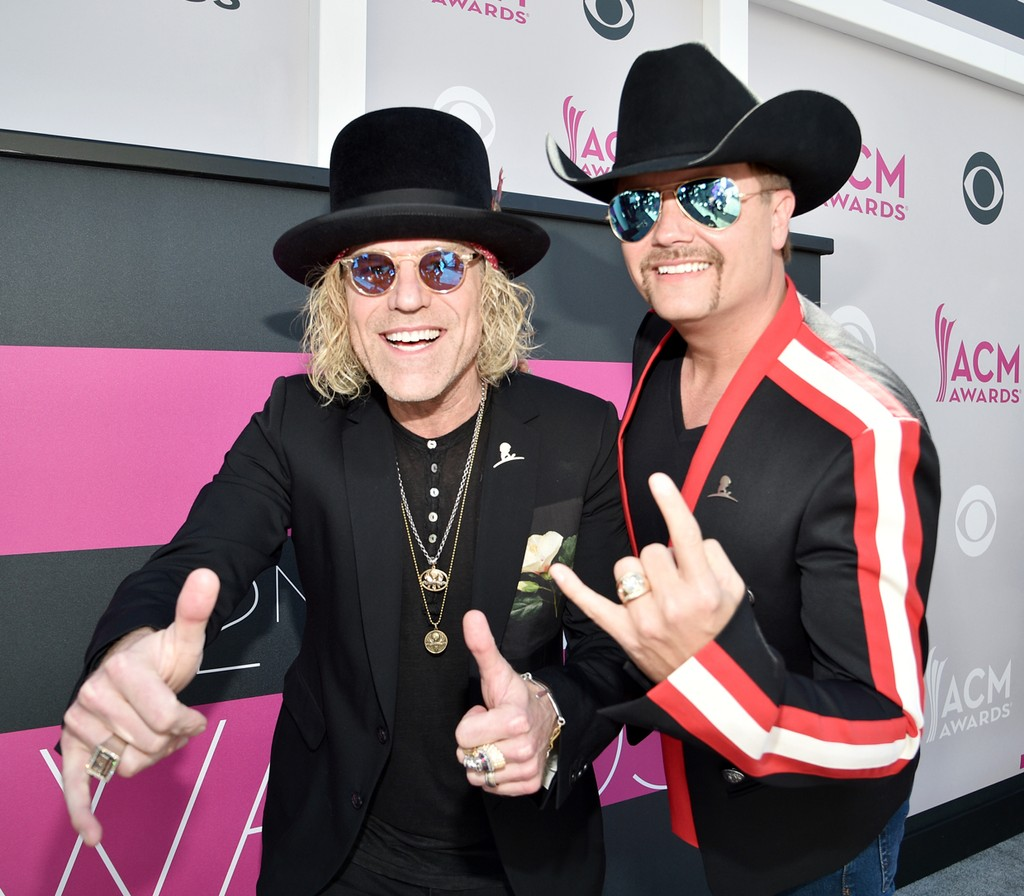 Big Kenny and John Rich of music group Big & Rich attend the 52nd Academy Of Country Music Awards at Toshiba Plaza on April 2, 2017 in Las Vegas.