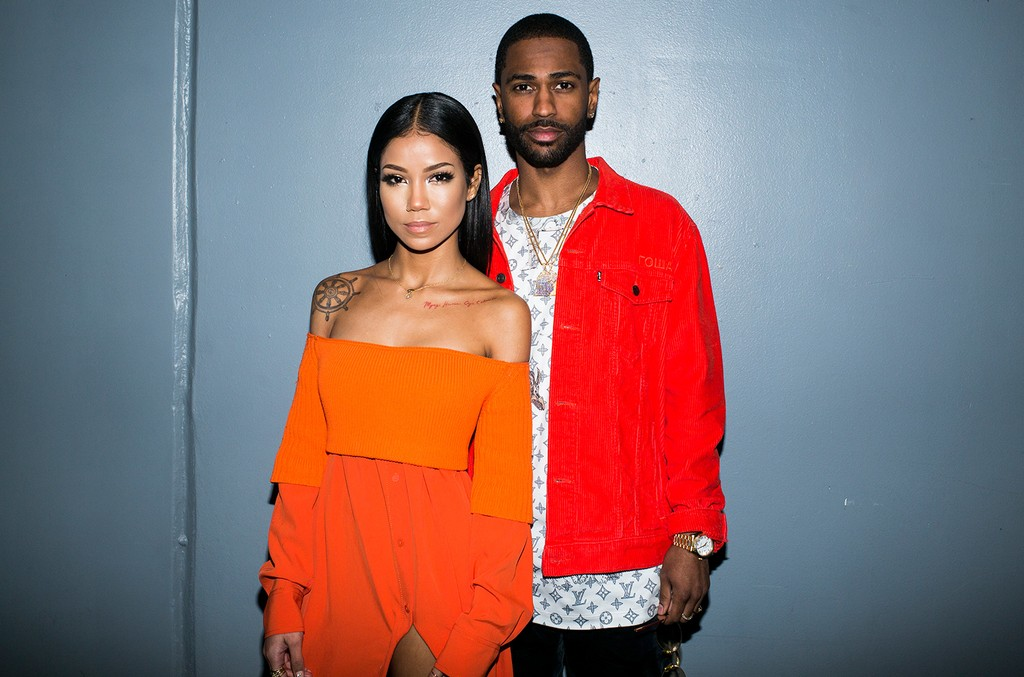 Jhené Aiko and Big Sean photographed backstage at the 2017 iHeartRadio Music Awards at The Forum on March 5, 2017 in Inglewood, Calif.