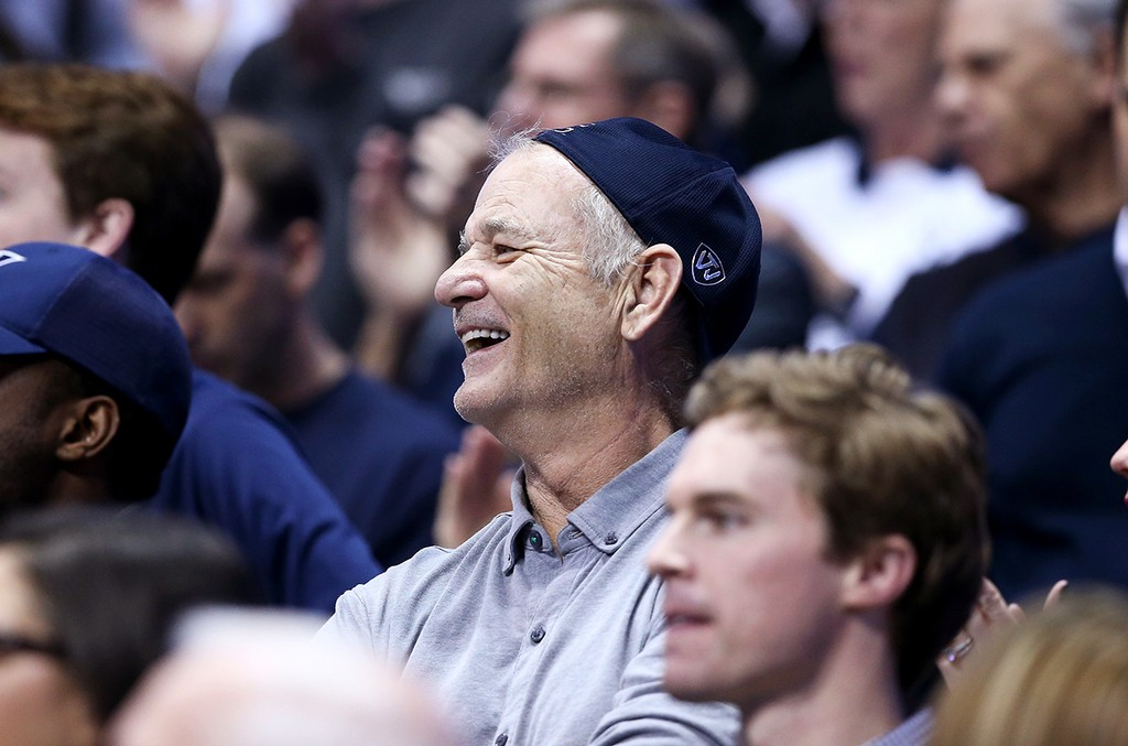 Bill Murray watches the action of the Villanova Wildcats game against the Xavier Musketeers at Cintas Center on Feb. 24, 2016 in Cincinnati, Ohio.