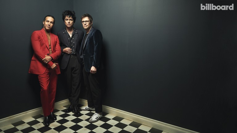 <p>From left: Pete Wentz, Billie Joe Armstrong and Rivers Cuomo photographed on Aug. 25, 2019 at Smashbox Studios in Culver City, Calif. Styling by Simona Sabo. Wentz wears a Givenchy suit from Saks Fifth Avenue Beverly Hills, Sandro Paris sweater, Paul Smith boots and Ronin jewelry. Armstrong wears an Emporio Armani jacket and pants, AMIRI shirt and Saint Laurent boots. Cuomo wears a Paul Smith jacket from Saks Fifth Avenue Beverly Hills, Oyster T-shirt, PAIGE pants and Adidas sneakers.</p>