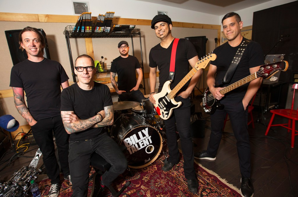 Billy Talent at their east Toronto rehearsal space as they prepare for a summer tour.