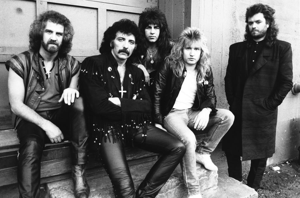 Black Sabbath, 1985: Geoff Nicholls, Tony Iommi, Dave Spitz, Eric Singer, Glenn Hughes