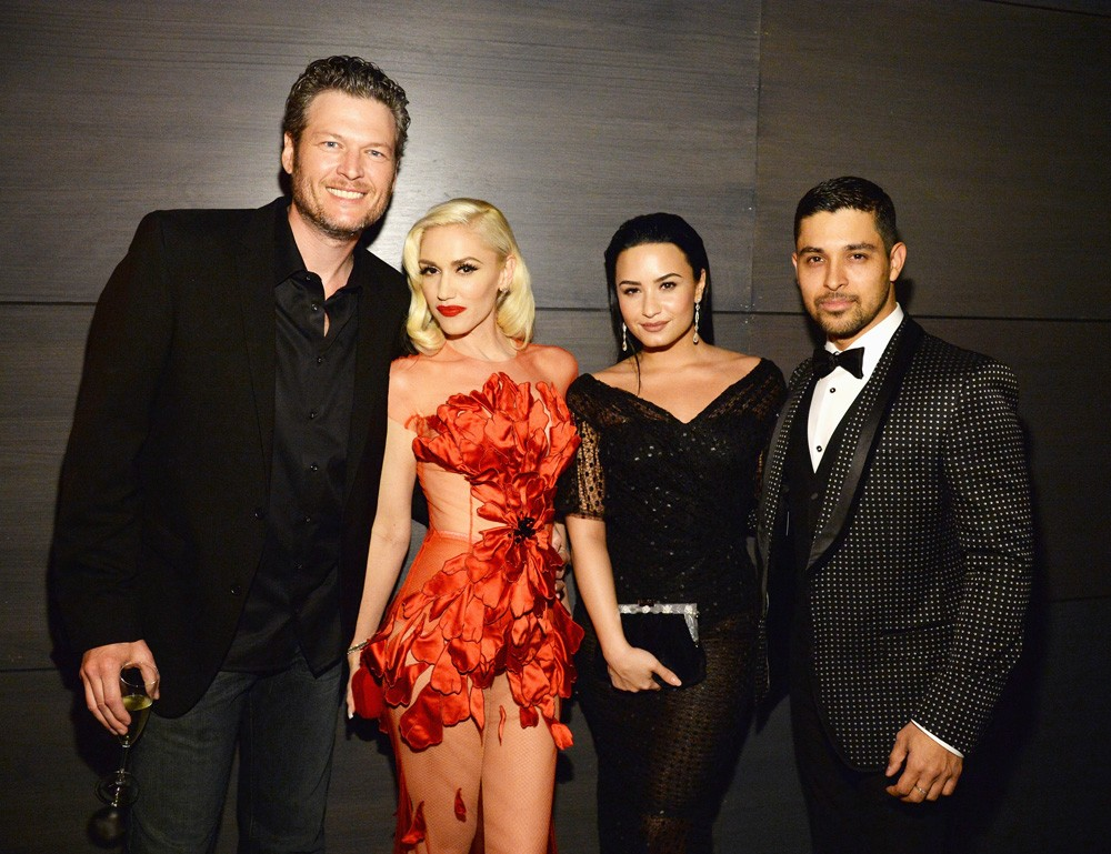 Blake Shelton, Gwen Stefani, Demi Lovato, and Wilmer Valderrama