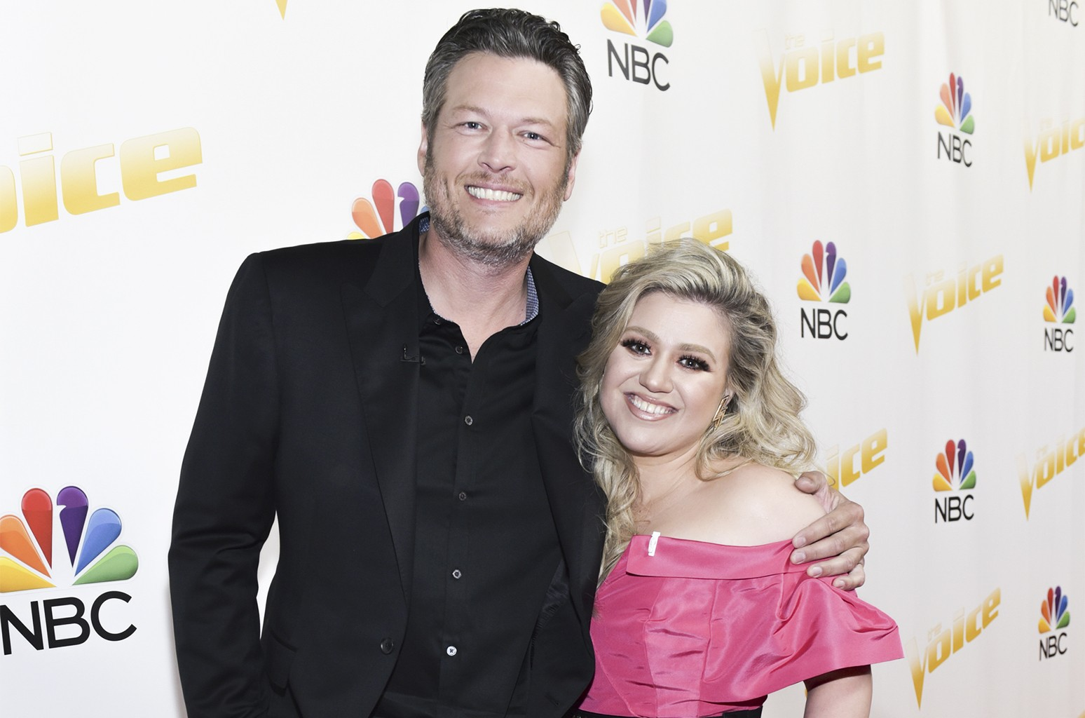 Blake Shelton and Kelly Clarkson
