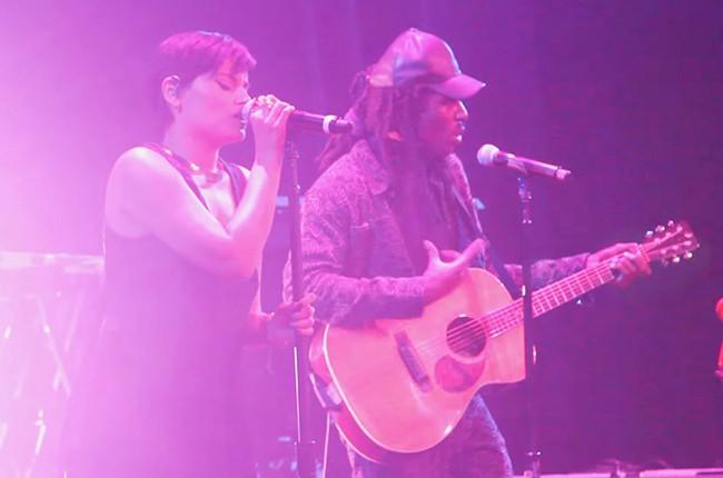 Blood Orange Performs With Nelly Furtado at the Apollo.