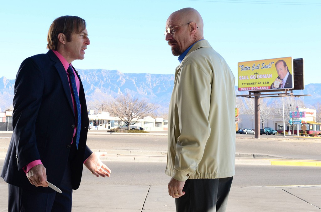 Bob Odenkirk and Bryan Cranston in Breaking Bad.