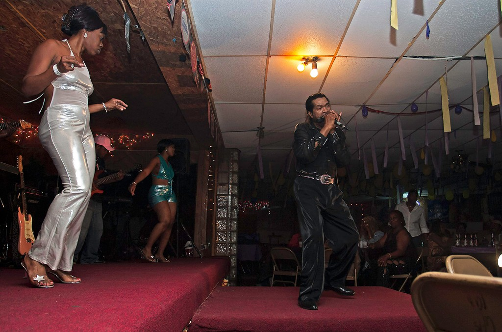 """Bobby Rush performs at Club Ebony in a scene from """"I Am The Blues."""""""