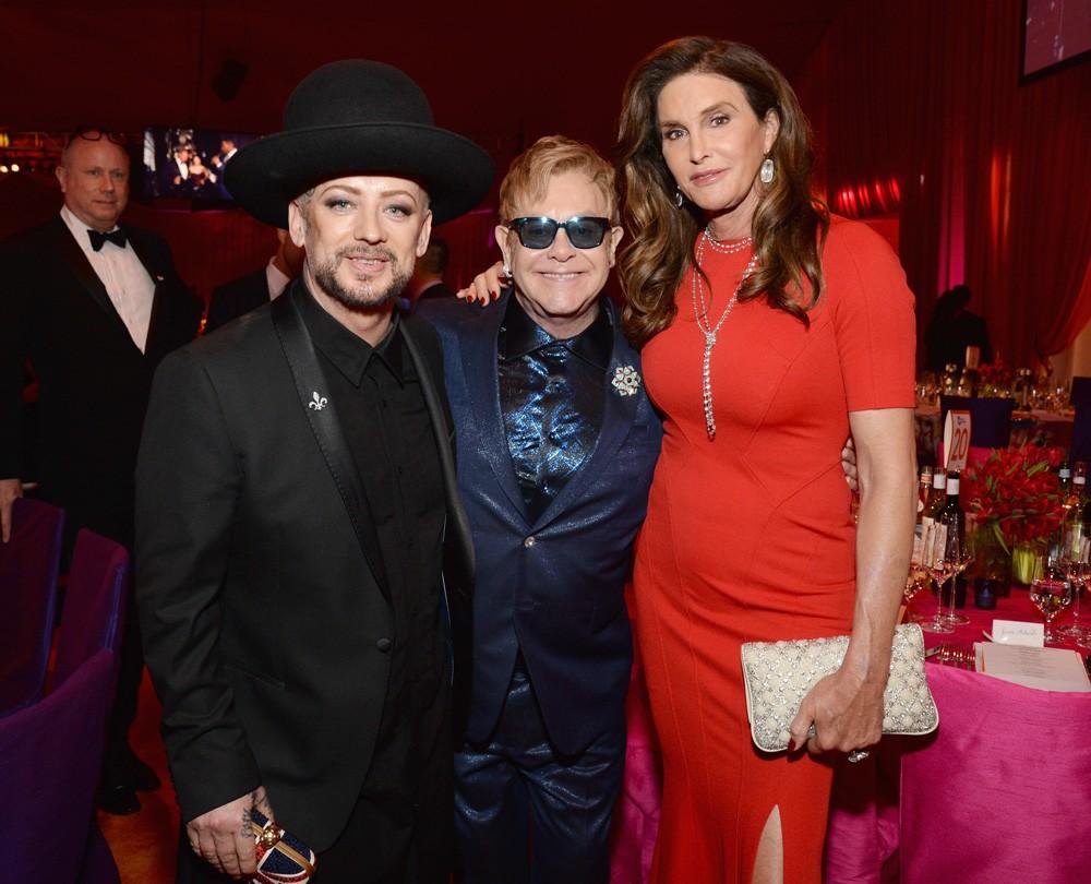 Boy George, Sir Elton John, and Caitlyn Jenner