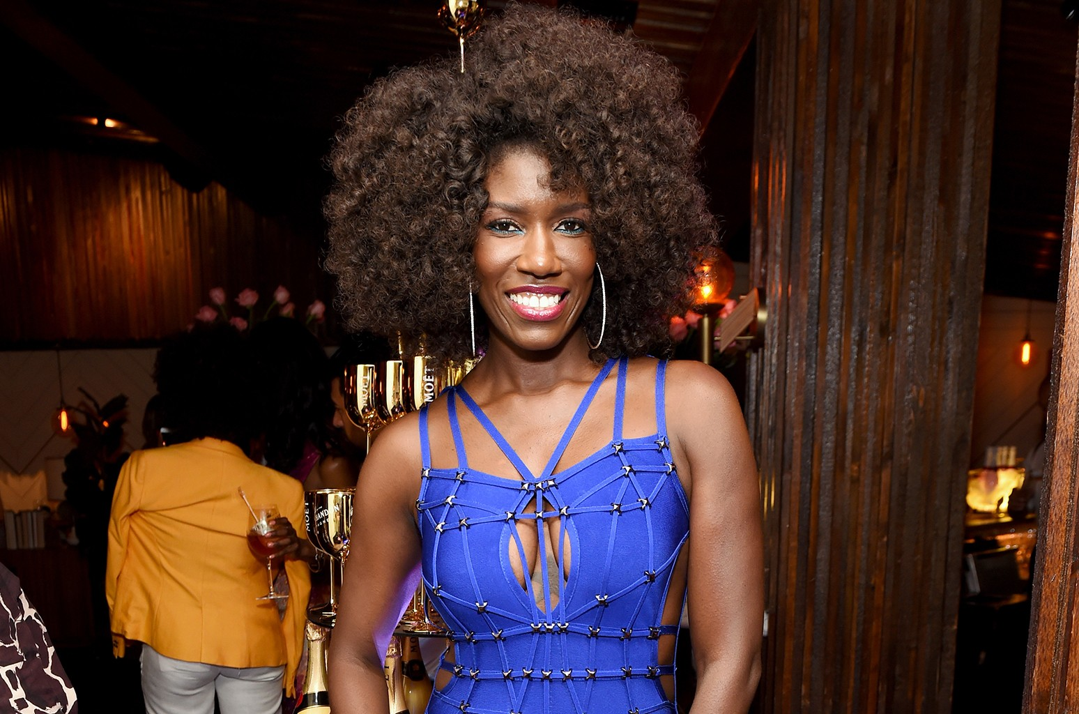 Bozoma Saint John attends Moet & Chandon's Beats and Bites dinner series at The Nice Guy on May 21, 2017 in Los Angeles.