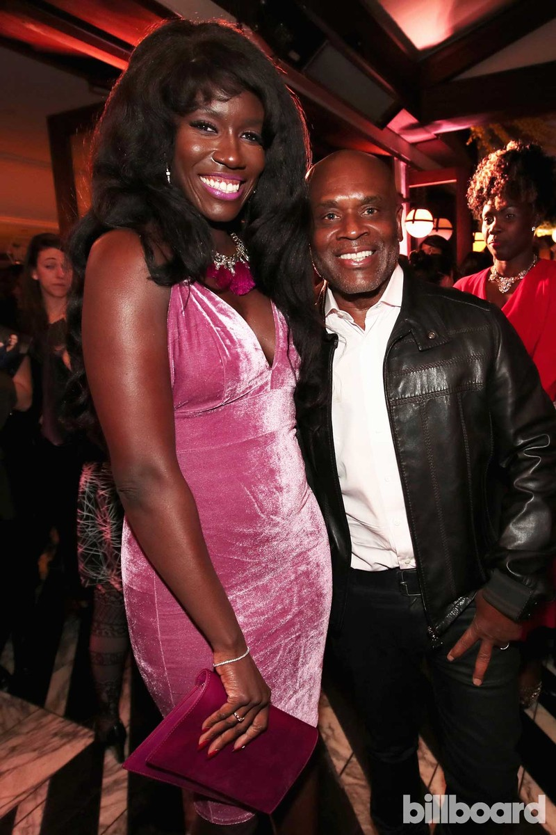 Executive Bozoma Saint John and CEO of Epic Records L.A. Reid attend 2017 Billboard Power 100 - Inside at Cecconi's on Feb. 9, 2017 in West Hollywood, Calif.