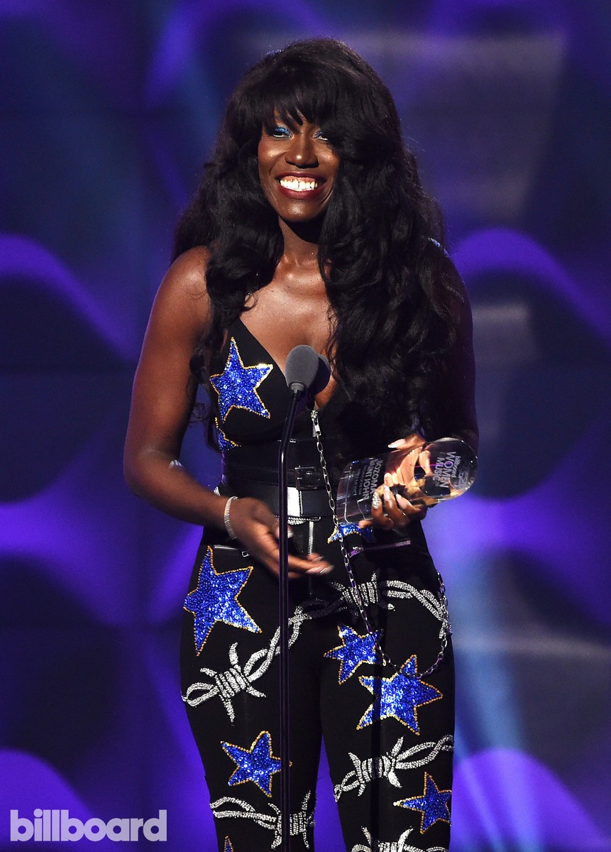 Bozoma Saint John of Apple Music speaks on stage at the Billboard Women in Music 2016 event on Dec. 9, 2016 in New York City.